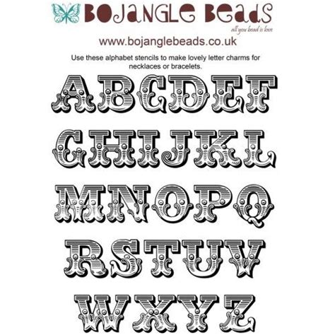 printable carnival fonts beading projects shrink plastic templates circus