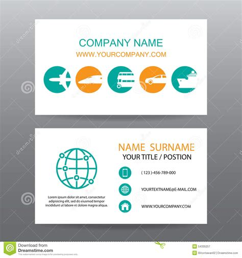 card companies business card vector background tour companies stock