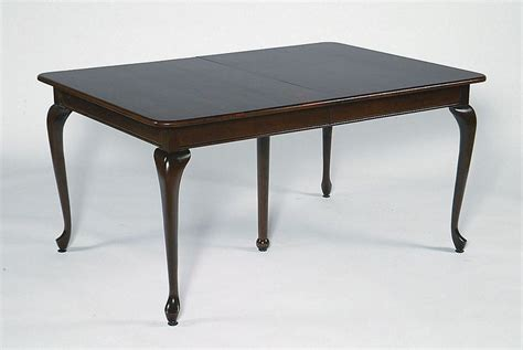 queen anne dining room table amish rectangular queen anne dining table