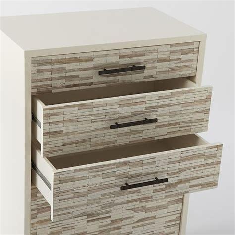 Tiled Dresser by Wood Tiled 5 Drawer Dresser West Elm