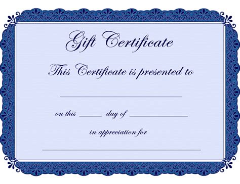 fancy gift certificate template printable gift certificates clipart clipart suggest
