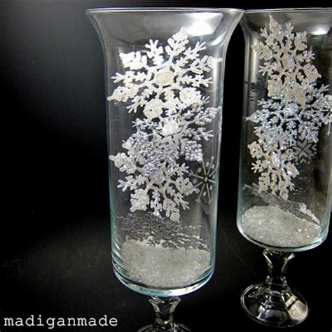 crafts for snowflake etched glass hurricane