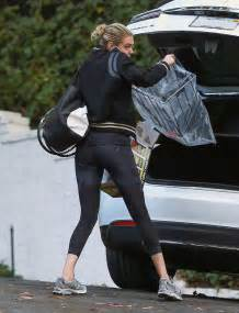 spandex house kate upton in spandex heading to a friend s house in la