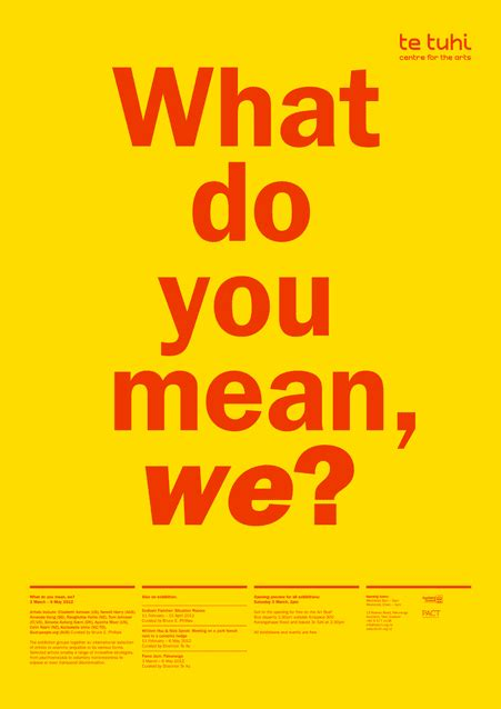 what does no section 8 mean what do you mean we exhibition poster on behance