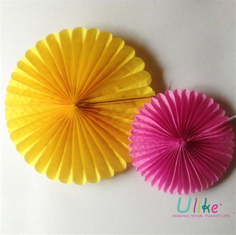 Folding Tissue Paper Flowers - hanging tissue paper flowers for wedding decoration paper