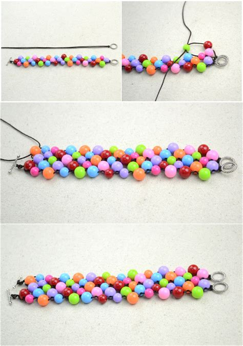 Handmade Beaded Bracelets Out Of Affordable Jewelry Making Materials · How To Bead A Woven Bead