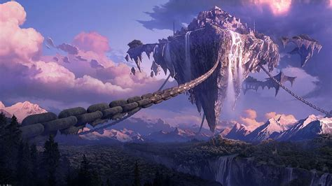 anime landscape android wallpaper anime fantasy landscape wallpaper images bozhuwallpaper