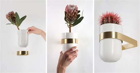Modern Wall Vase by Floral Decor Is Made Easy With These Ceramic Wall Mounted