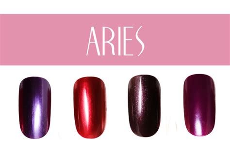 aries color pictures nail color by zodiac sign aries nail colors