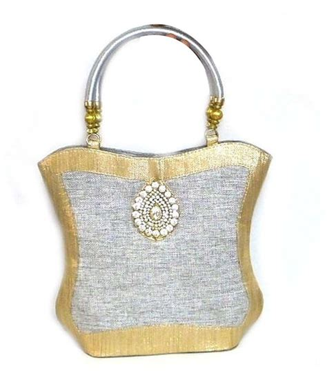 Handmade Jute Bags - buy handmade silver jute bag at best prices in india