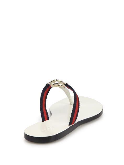 white gucci sandals gucci new gg canvas leather signature sandals in