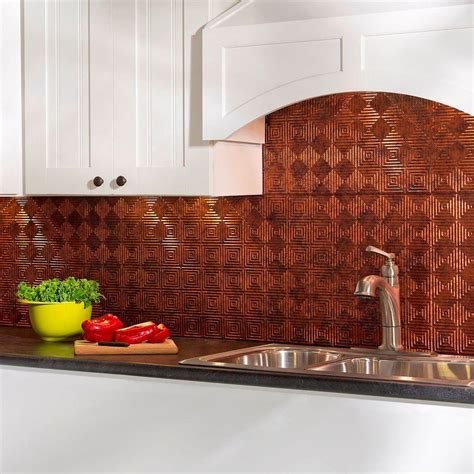 backsplash panel fasade 24 in x 18 in miniquattro pvc decorative