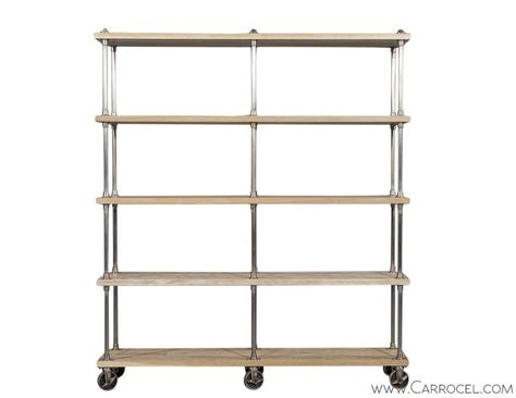 Industrial Etagere ralph industrial etagere on casters at 1stdibs