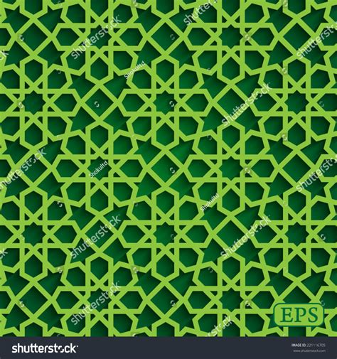 islamic pattern vector cdr geometrical arabic islamic pattern background stock vector