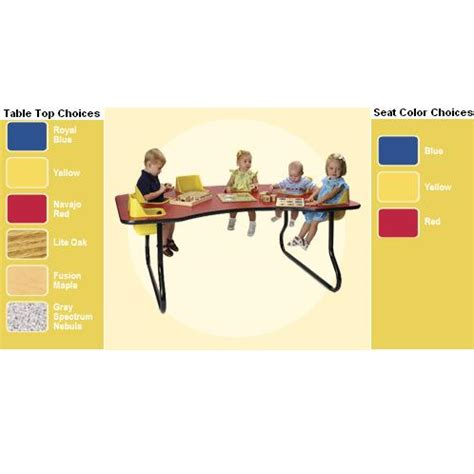 infant activity table infant toddler feeding activity table 6 seat 72 quot x