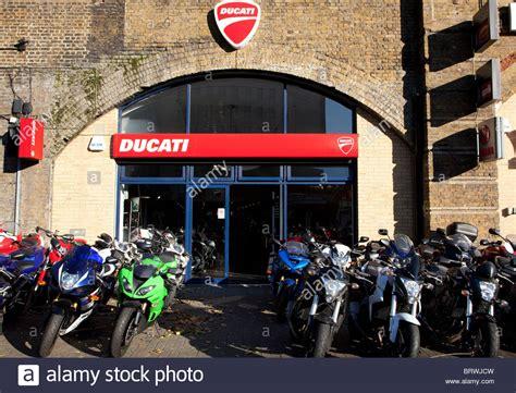 Motorcycle Dealers London Uk by Ducati Motorbike Dealer Vauxhall London Stock Photo