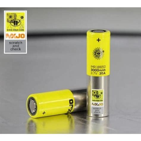 Battery Mxjo 18650 3000mah 35a Authentic 1 mxjo imr 18650 35a 3000mah battery pair maxvaping