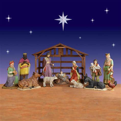 piece life size creche scene christmasnightinccom