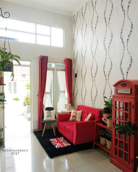 wallpaper dinding yang bisa menyala 87 desain ruang tamu warna merah desain wallpaper