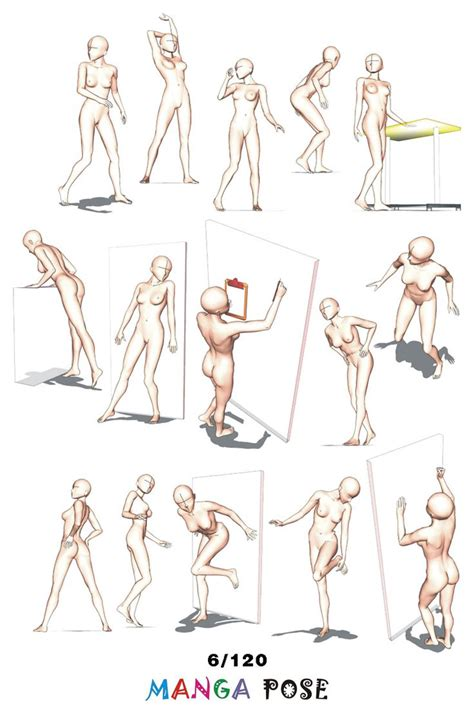 anime poses tutorial drawing manga pose big posebook for manga anime