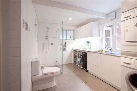 bathroom with laundry room ideas 20 small laundry with bathroom combinations house design