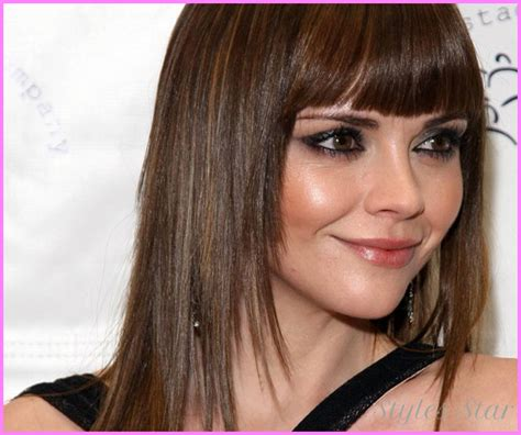 hairstyles with bangs on round faces haircuts for long hair with bangs round face stylesstar