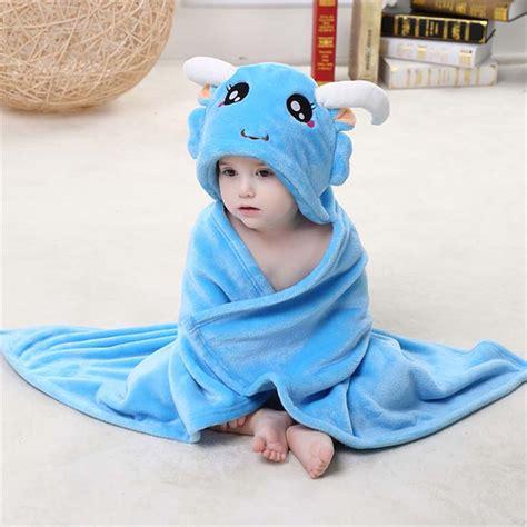Selimut Baby Hoodie Blanket blue flannel capricorn baby hoodie blanket n10387