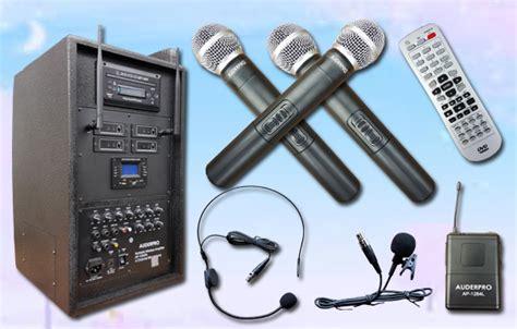 Portable Speaker 8 Inch Meeting Bisa Karaoke portable wireless auderpro ap1284pa dvd usb kaset
