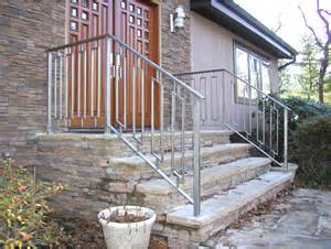 outdoor handrails custom made greenan exterior entry railing by eric david