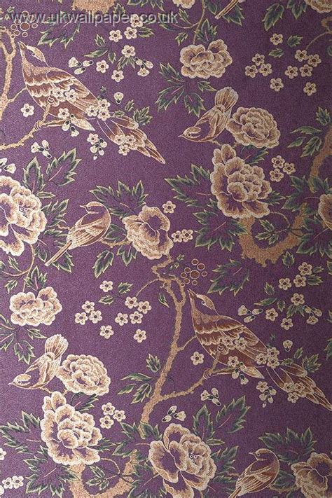 purple gold wallpaper uk anna french wild flora
