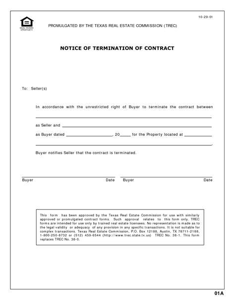 contract termination letter vendor