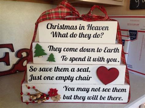 christmas in heaven craft in heaven what do they do memorial blocks