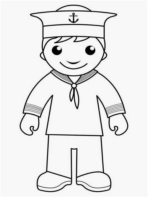 navy sailor coloring page coloring pages