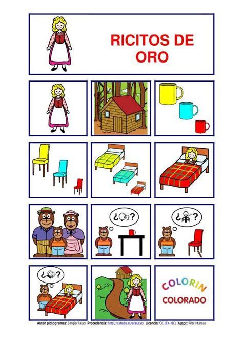 ricitos de oro troquelados 8478643249 ricitos de oro y los tres osos cuentos con pictogramas cuentos spanish and