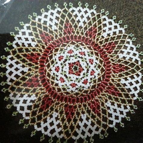 fiori di perline schemi centrino perline klaus libri schemi e corsi schemi e