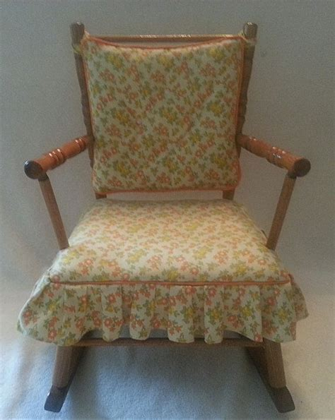 rocking chair cushion set with skirt vintage cass toys child s rocking chair free shipping