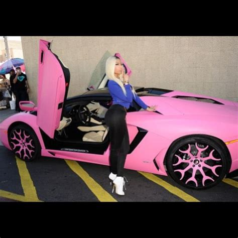 nicki minaj bugatti nicki minaj s bright pink lamborghini aventador