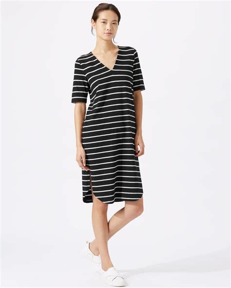 Dress Stripe stripe relaxed v dress jigsaw