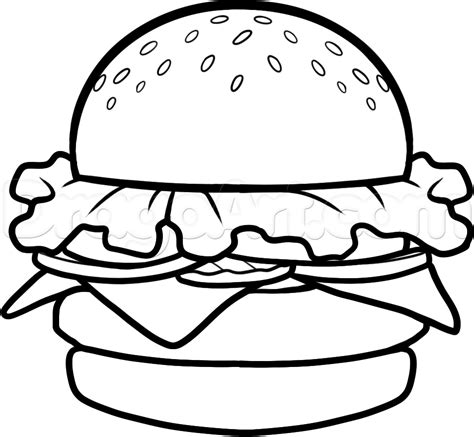 draw a krabby patty step by step drawing sheets added