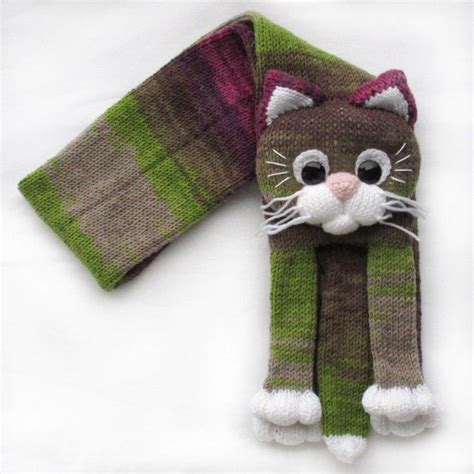 knitting pattern cat scarf knitted cat scarf knitted kids scarf animal scarf cat