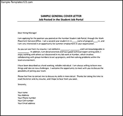 General Cover Letter Sles Free by General Resume Cover Letter Pdf Template Free Sle Templates Sle Templates