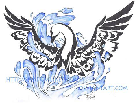 tribal swan tattoo designs swan by jethero13 on deviantart