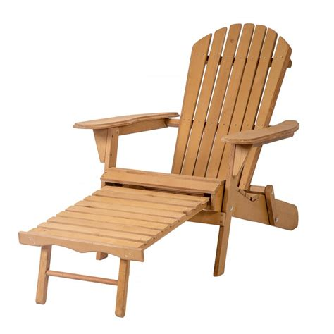 patio chair with pull out ottoman outdoor wood adirondack chair foldable w pull out ottoman