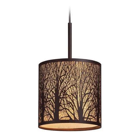 Elk Lighting Woodland Sunrise Aged Bronze Led Mini Pendant Lights Woodland