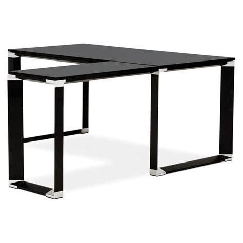 Bureau D Angle Design Quot Hovik Quot Bois Noir Bureau D Angle Noir