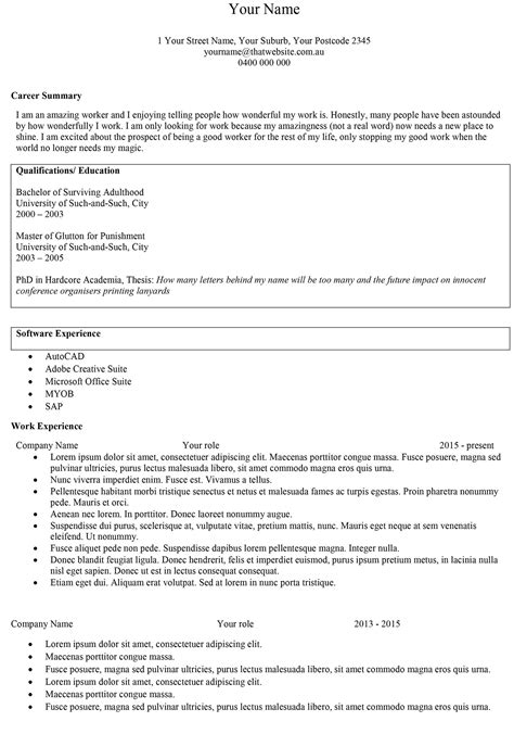 Resume Template Word Au Episode 16 Rogue Resumes To Cvs 1 Add Columns Taku Mbudzi
