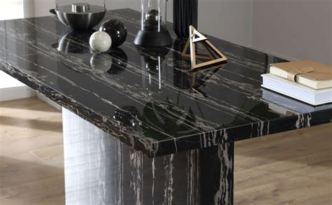 black marble dining room table magnus black marble dining table with 6 renzo black chairs