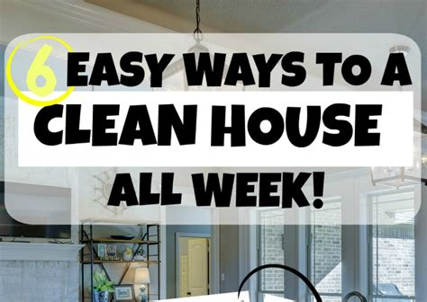 how to have a perfeclty clean house all the time or maybe not 6 easy ways to a clean house all week little cottage life