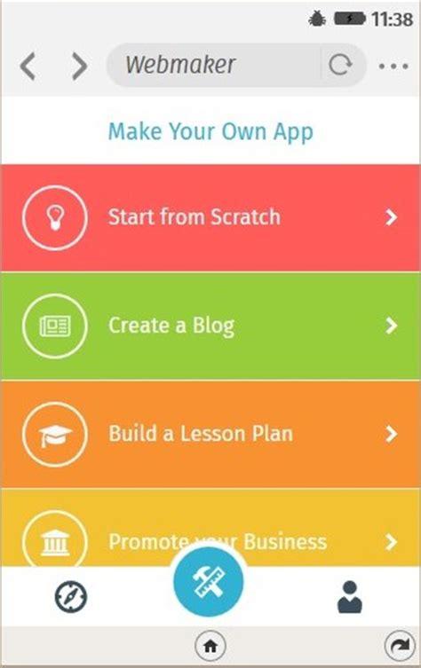 creating mobile apps creating mobile apps with the webmaker app general web