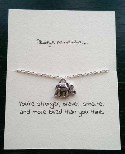 Small Birthday Quotes For Friend Silver Elephant Necklace Friendship Necklace Best Friend